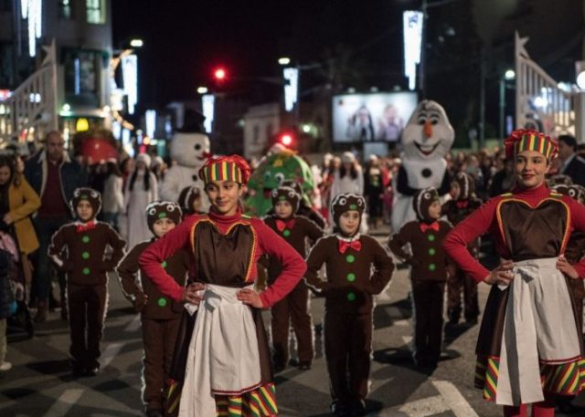 Christmas parade in Gozo